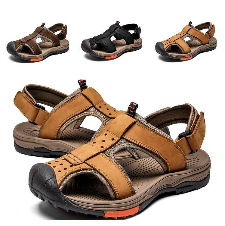 Mens Slingback Flats Hollow out Straps Outdoor Sport Beach Casual Seals sautope