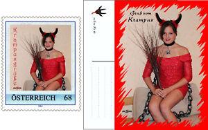 A) Personalisierte Briefmarke selbstklebend KRAMPUS MÄDCHEN 2017 und Postkarte - Altenmarkt-Thenneberg, Österreich - A) Personalisierte Briefmarke selbstklebend KRAMPUS MÄDCHEN 2017 und Postkarte - Altenmarkt-Thenneberg, Österreich