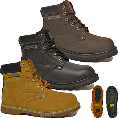 MENS SAFETY WORK BOOTS CASTLE FORT HIKER SAFETY MESH SHOE WITH STEEL MID SOLE
