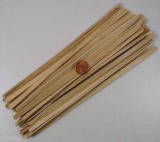50 Bâtons bois Bâtonnets esquimau 19x0,6cm pour collage maquette loisirs DIY