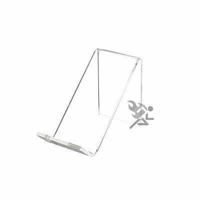 "3-3//8/"" Clear Acrylic Display Stand Easels with 3//4/"" Shelf Qty 24"