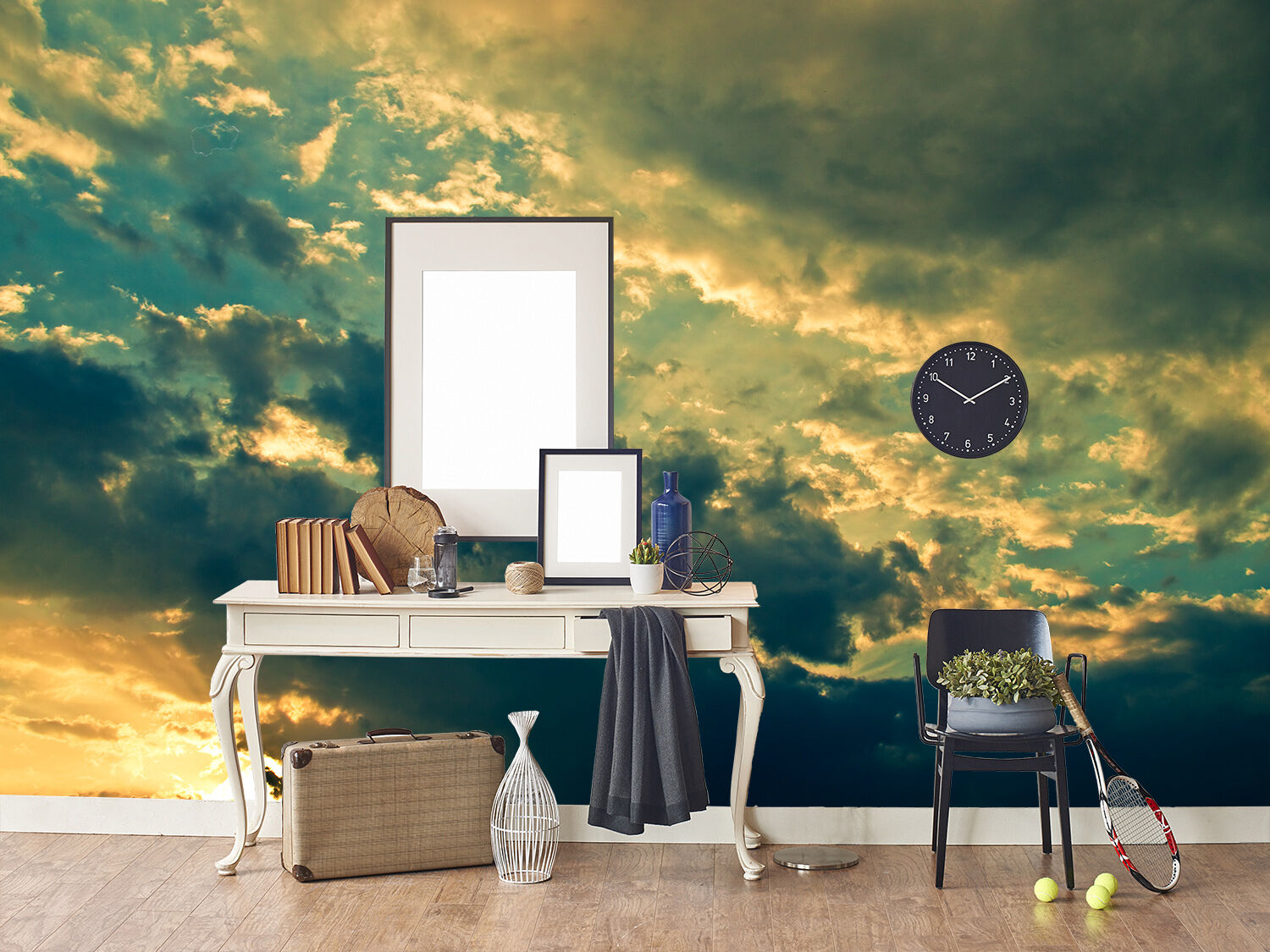 3D Bule Sky Cloudiness Paper Wall Print Wall Decal Wall Deco Indoor Murals
