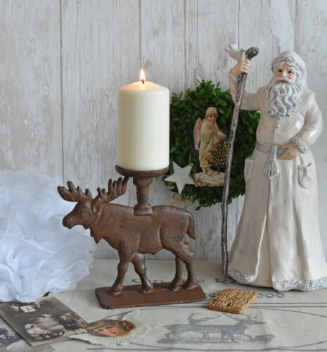 Kerzenleuchter Gusseisen Leuchter Rentier Kerzenhalter Hirsch Kerzenständer