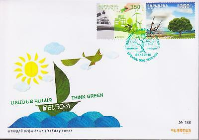 Armenia 2016 Europa Cept Think Verde Fdc R17273 Large Assortment Stamps