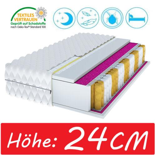 MATRATZE 80x200 CLASSIC MAX Taschenfederkern MEMORY 24cm 9 zonen POCKET NEU