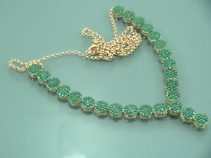 Turkish-Handmade-Jewelry-925-Sterling-Silver-Emerald-Stone-Ladies-039-Necklace