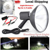 9inch 100w Handheld Hid Spotlight Driving Light Hunting Search Light 240mm 6000k