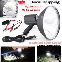 9inch 100w Handheld Hid Spotlight Driving Light Hunting Search Light 240mm 6000k