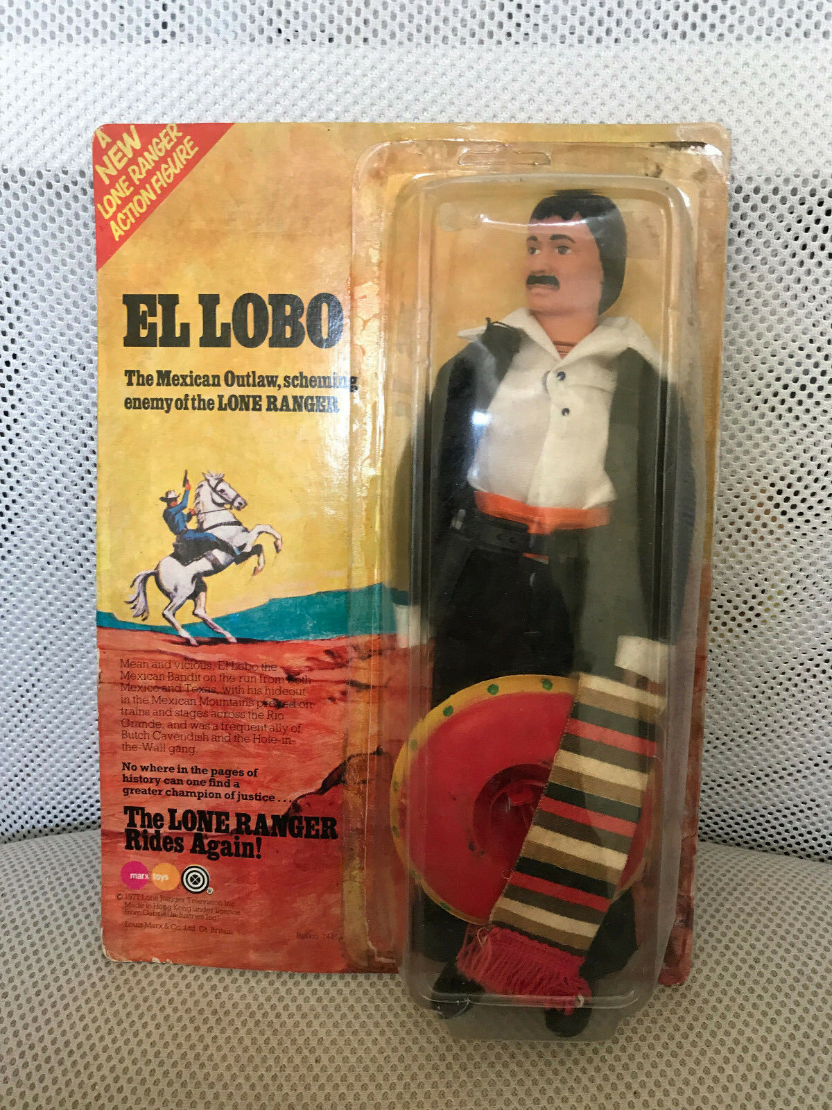 MIB MOC EL LOBO MARX Lone Ranger GABRIEL 1977  1 MEXICAN NY