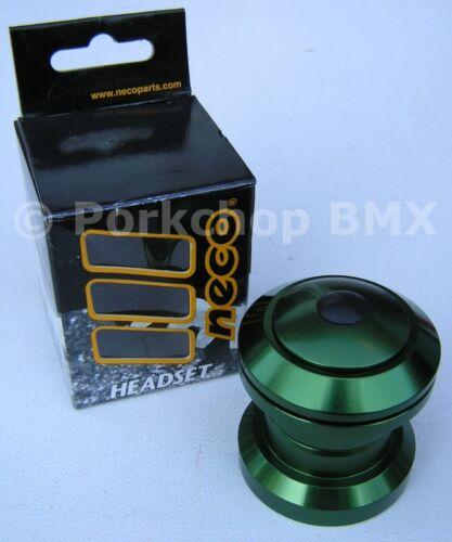 "Aluminum alloy BMX or MTB bicycle headset 1 1//8/"" threadless GREEN ANODIZED"