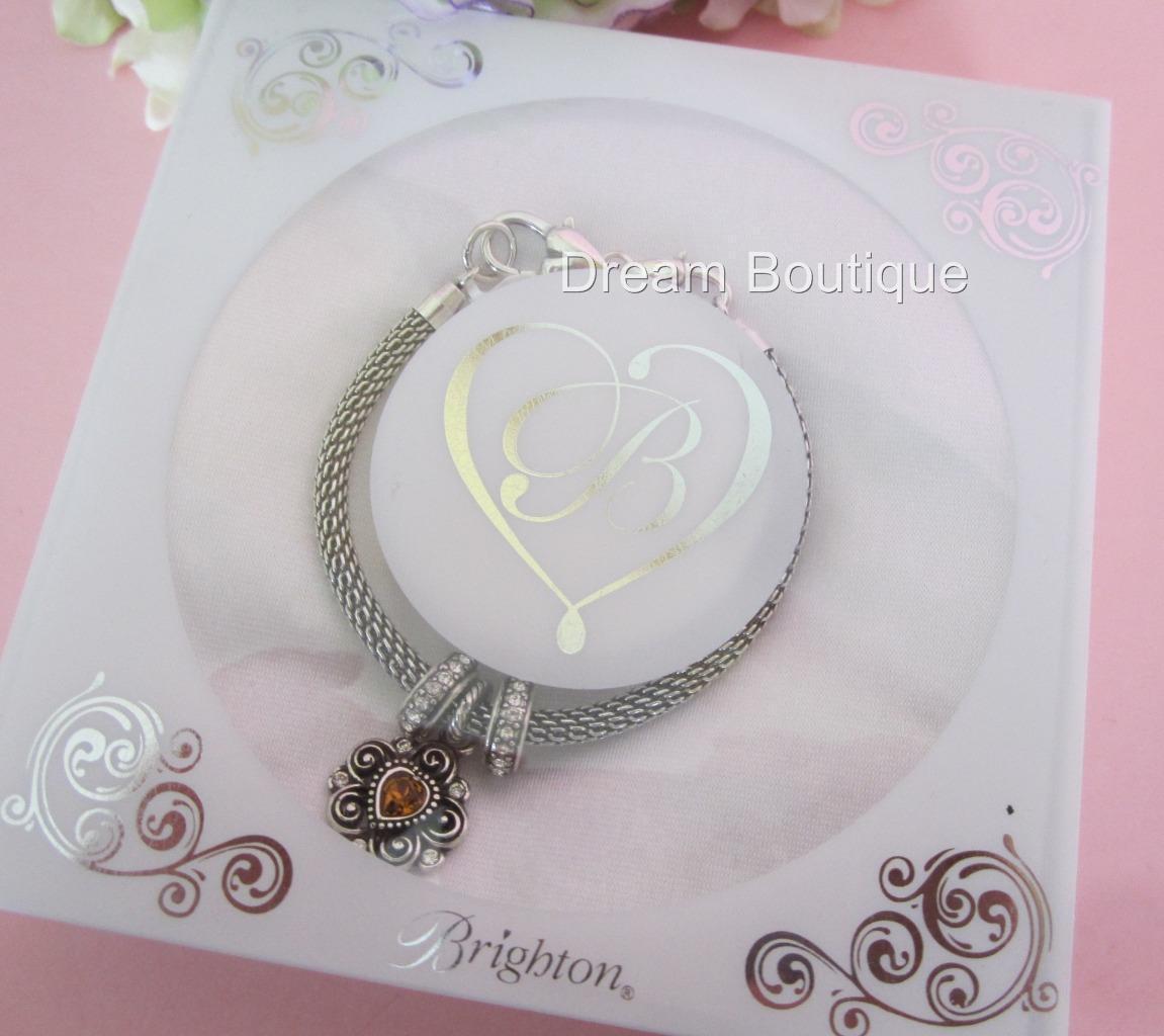 Brighton Beverly Glam Gift Set 2 Stoppers & 1 Birthstone Nov Charm Bracelet NIB