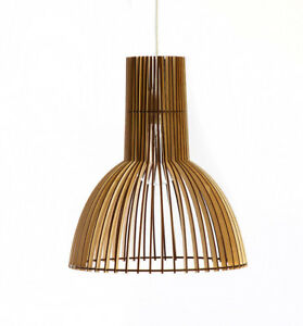 Wood Lamp Wooden Shade Hanging