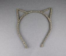 Gold Black cat kitten ears headband hair band accessory kawaii cosplay