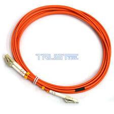 3m LC/LC 62.5/125  Duplex Multi Mode Optic Fiber Optics Optical Cable Aqua