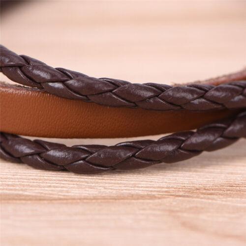 Bracelet en cuir rétro pour homme punk fait main Bracelet en cuir marron HQ