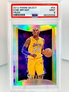PSA 9 MINT Kobe Bryant SILVER PRIZM HOLO 2012-13 Panini SELECT #54 2012 Lakers