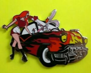 Disney-JESSICA-Roller-Skating-amp-ROGER-Rabbit-HOT-ROD-Car-Fabulous-50-039-s-Pin-LE100