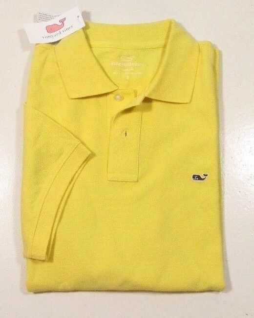 Vineyard Vines Men's Sunny Yellow Classic Fit Yellow Pique Polo Shirt