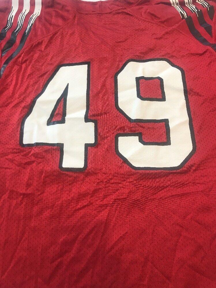 b516b2c5f64 ... Game Worn Worn Worn Used Louisville Cardinals UL Football Jersey Adidas  Size 48 585f69