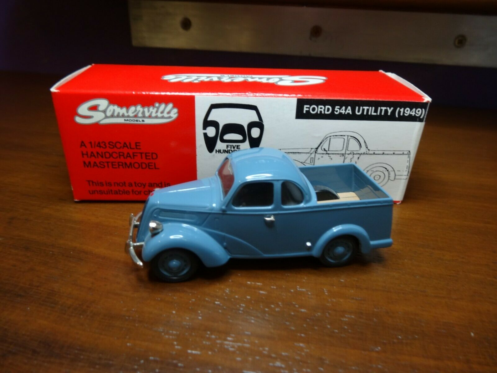 SOMERVILLE MODELS 501 FORD 54A UTILITY 1949 blueE BOXED 161 500