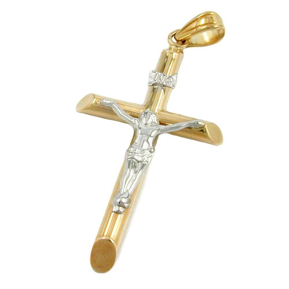 Pendentif pour collier jesus-kreuz bicolor 9Kt Or 375 neuf,collier,unisexe