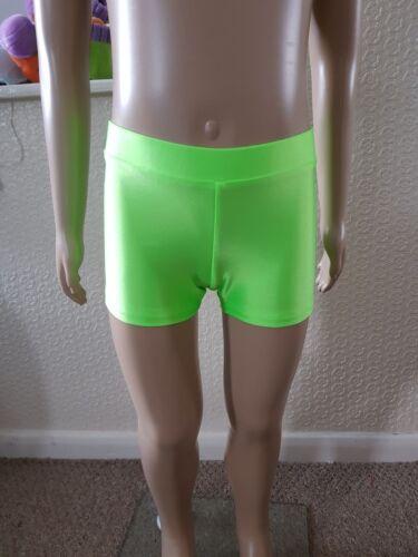 ADFP Girls Lycra shorts  Dance//Gym//Freestyle// Plain wear  12 colours 6 sizes