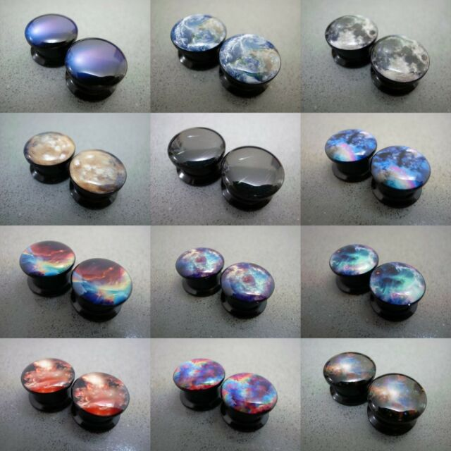 Galaxy Space Cosmic Milky Way Natural Phenomena Acrylic Flesh Tunnels Ear Plugs