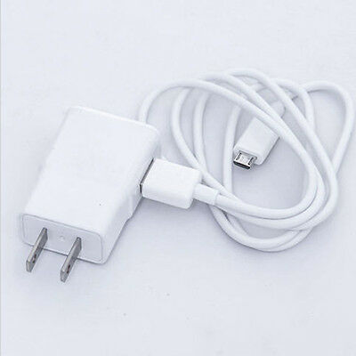 Best US Plug Wall Charger Adapter +USB Data Cable for SamSung Galaxy Note2 S4 S3