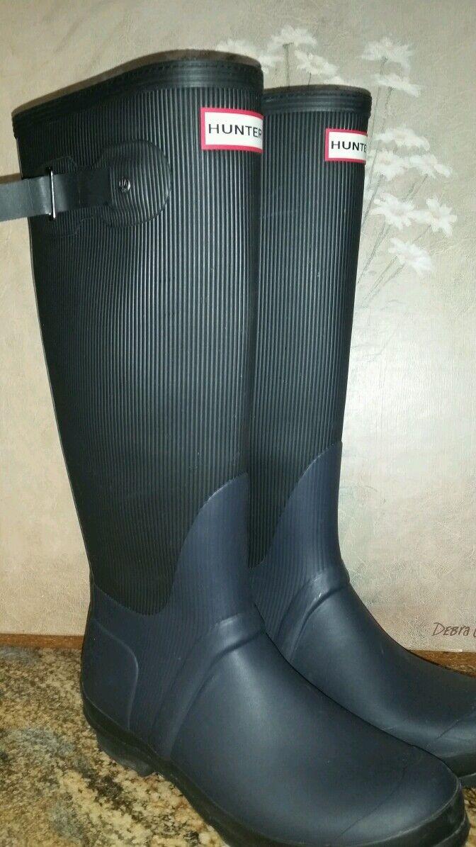 Hunter Ribbed Rain Boots Sz 6 Men 7 Women