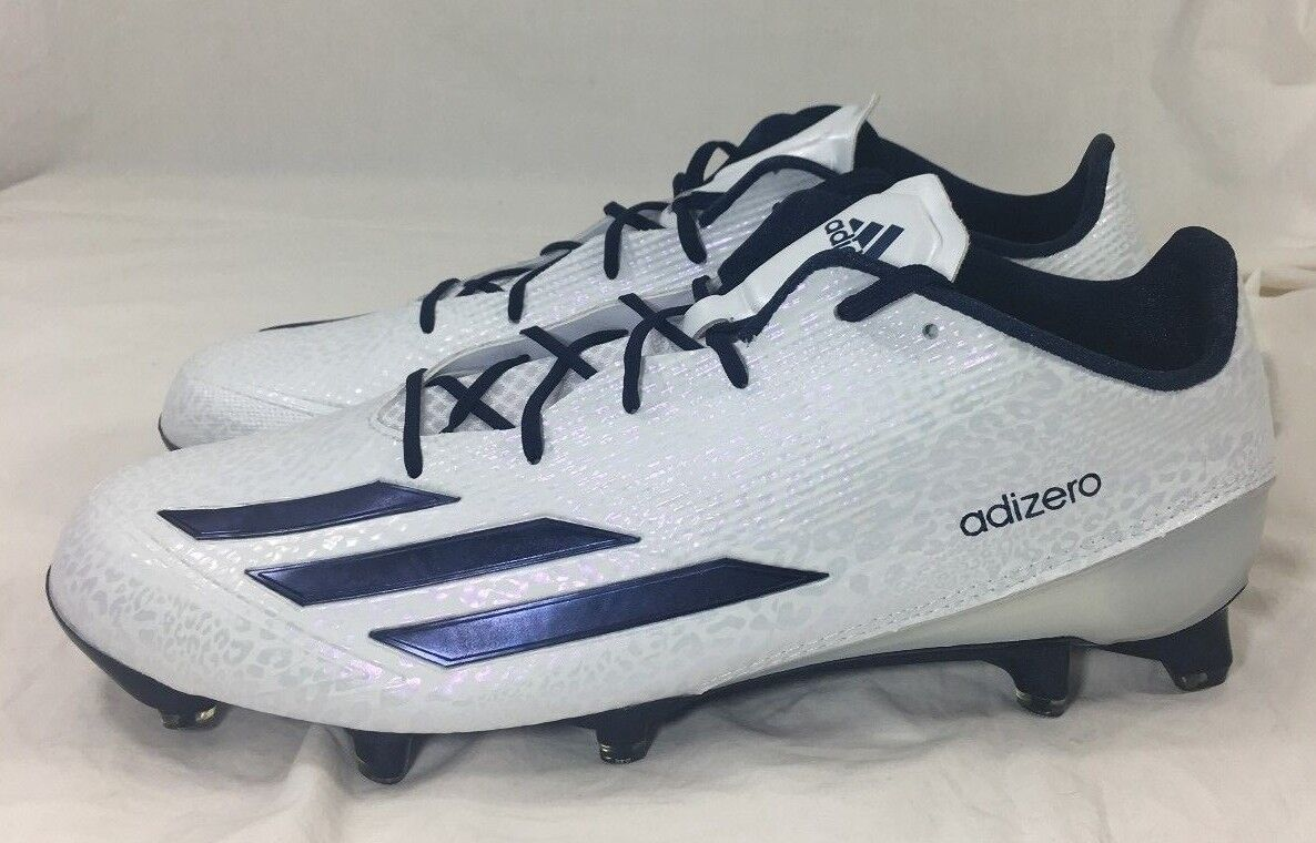 25ad974fe Adidas Adizero 5-Star 5.0 Football Cleats White and blueee AQ8737 Size 13.5