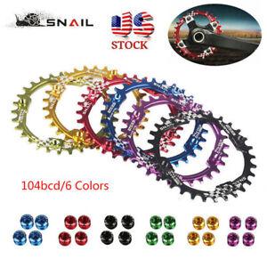 30T-Single-Narrow-Wide-Chainring-104bcd-XC-AM-DH-MTB-Bike-Crankset-Chainwheels