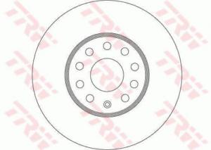 2 x TRW DF4295 Bremsscheibe