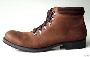 new mens KENNETH COLE 'Arc-Tic Blast' brown leather lace-up BOOTS 11.5