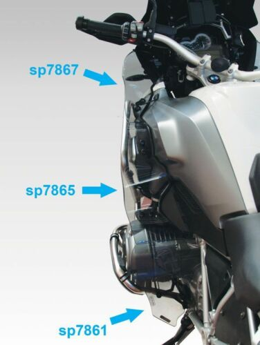 """BMW R1200GS LC 2013 /> /""""SP7865FC/"""" Leg protector smoked gray"""