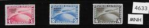 Complete MNH stamp reprint set / 1931 Graf Zeppelin Polar Flight German Reich