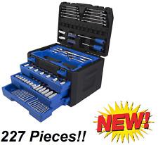 Kobalt 227-Piece Standard (Sae) and Metric Mechanic's Tool Set Wrench Hard Case