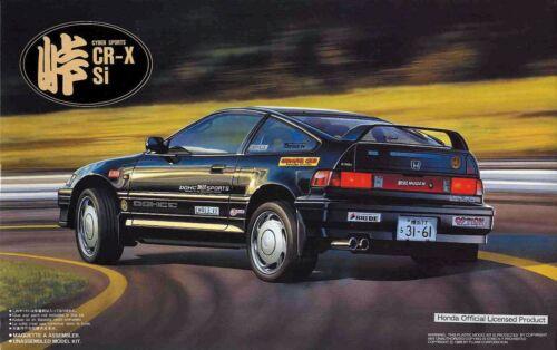 Fujimi 1991 Honda CRX SI Cyber Sports CR-X 1:24 Model Kit #