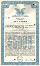 City of Springfield > 1971 Kentucky Lincoln Simms $5,000 sewer bond certificate