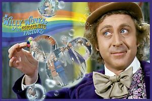 WILLY WONKA MOVIE COLLAGE POSTER (91x61cm) PICTURE PRINT NEW ART