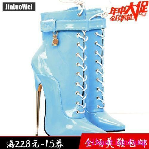 SY Fashion Sexy Sexy Sexy 18cm Metal Heel Extreme High Heel Pointed Toe Lacing Women 2019 e81f61