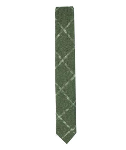 Kids Boys Skinny Slim Check Plaid Tweed Tie and Pocket Square Set Age 3 to 15