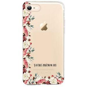 Coque Iphone 7 8 SE 2020 fleur vintage prenom