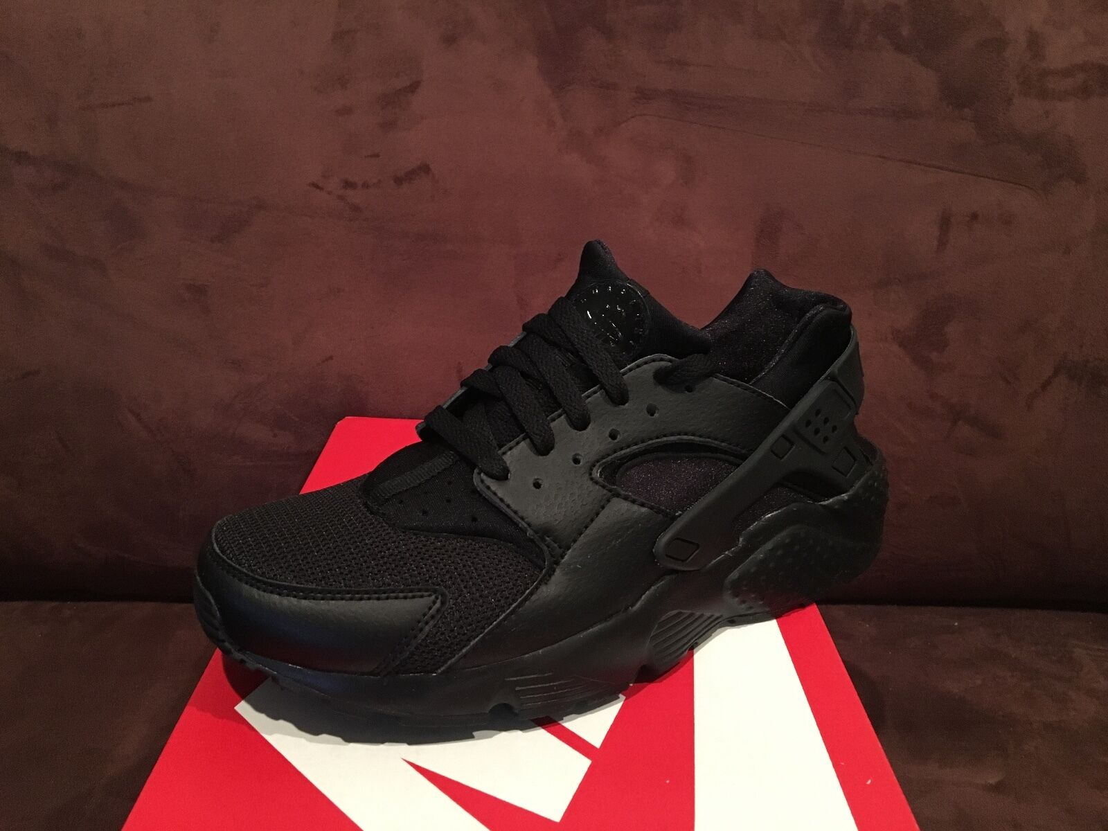 Nike Air Huarache low all black 90 95 1 foamposite uptempo White GS Boys kids