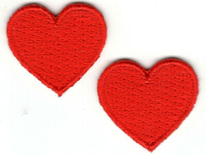 """Heart Red Sequin 1 3//4/"""" x 1 1//2/"""" Valentines Day Love Romance Iron On Patch"""