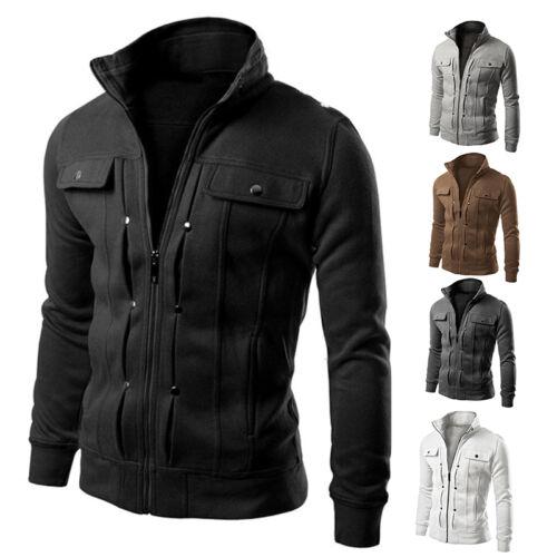 Men/'S Winter Coat Jacket Outerwear Overcoat Casual Slim Tops Warm Blazer P Hpal~