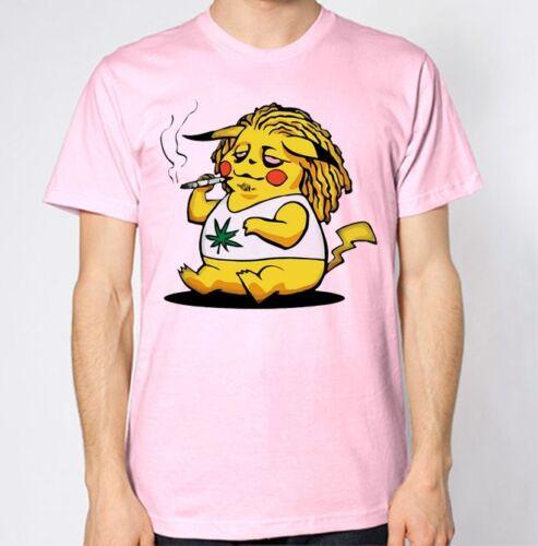 Tokemon T-Shirt Pokemon Pika Pikachu Top Smokemon Tee Funny Weed High Dope Swag