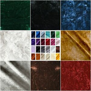 Crushed-Velvet-100-Polyester-Upholstery-Fabric-54-034-Sold-By-The-Yard