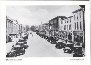Maryland-Postcard-034-Market-Street-034-1930-Fire-1922-Pocomoke-City-3-MD