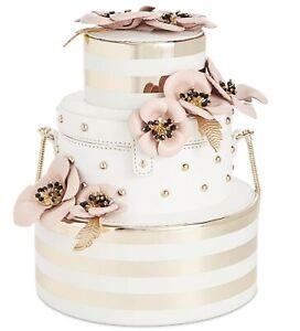 NWT-Kate-Spade-Wedding-Belles-Flower-Cake-Gold-Fun-Party-Bag-Purse-Clutch-Bride