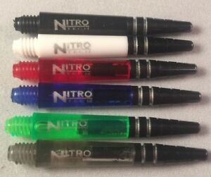 Set-of-3-Dart-Stem-Shafts-Red-Dragon-Nitrotech-Short-36mm-Various-Colours